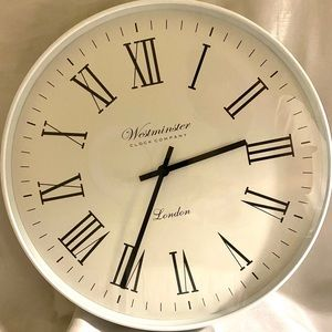 Large White Westminster Wall Clock
